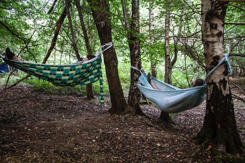 Festival hammocks at Chin Up 2018. Photo by Joshua Jolly