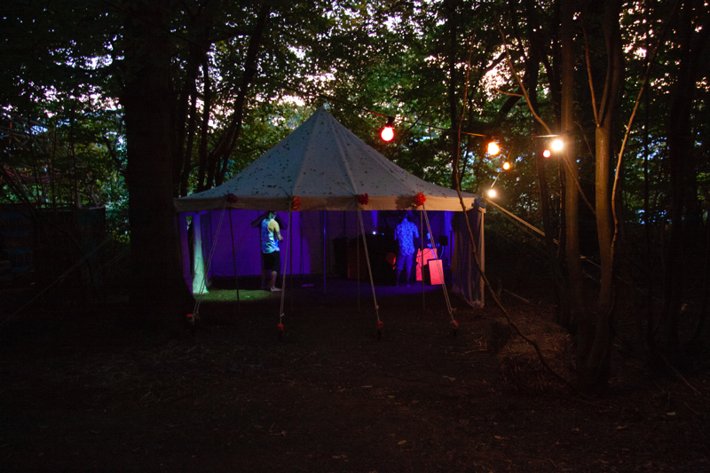 The DJ tent at Chin Up 2018. Photo by Jaz Farndon