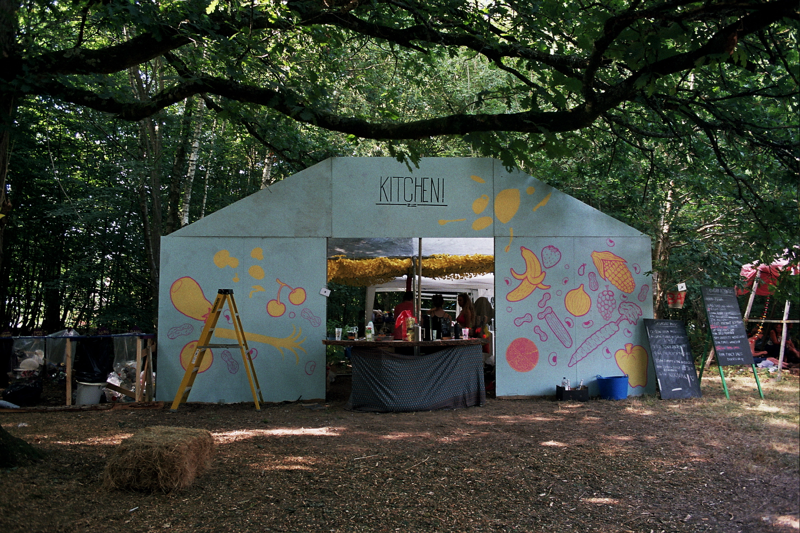 The kitchen at Chin Up 2018. Photo by Joshua Jolly