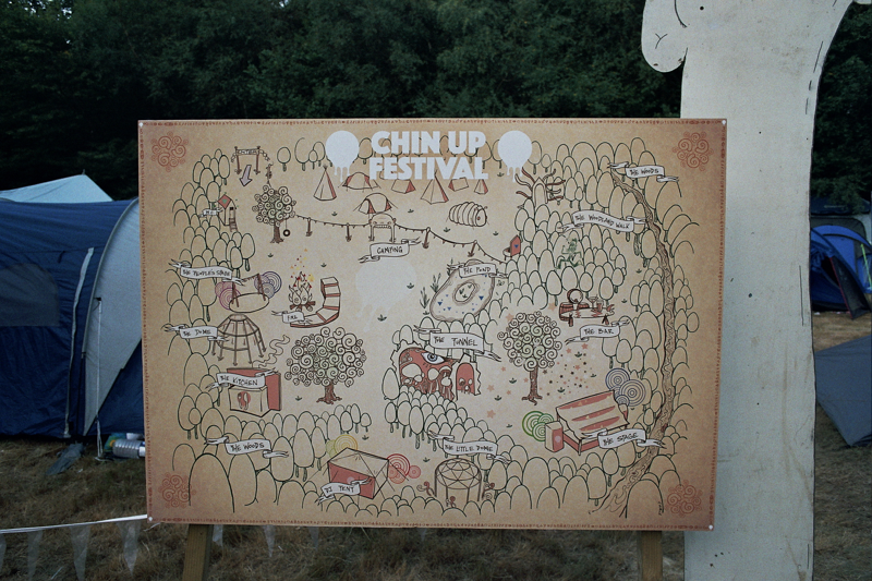 Festival map at Chin Up 2018. Photo by Joshua Jolly